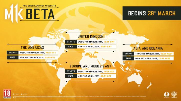 Объявлено расписание закрытого бета-теста Mortal Kombat 11 на PlayStation 4 и Xbox One